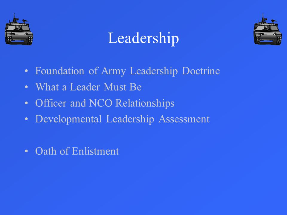Leadership Foundation of Army Leadership Doctrine