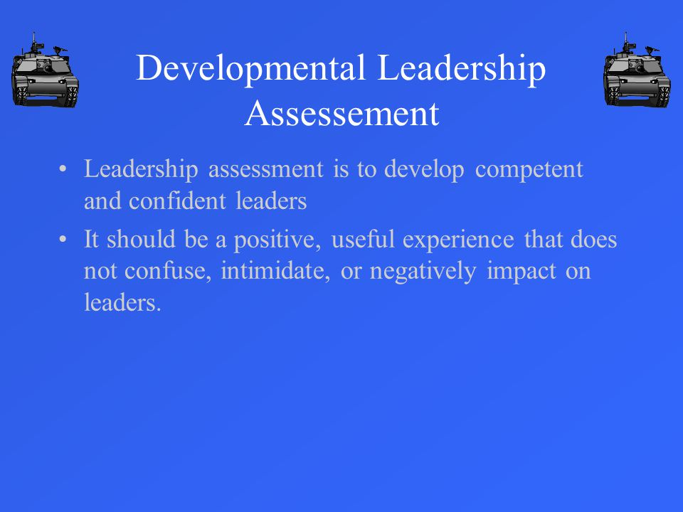 Developmental Leadership Assessement