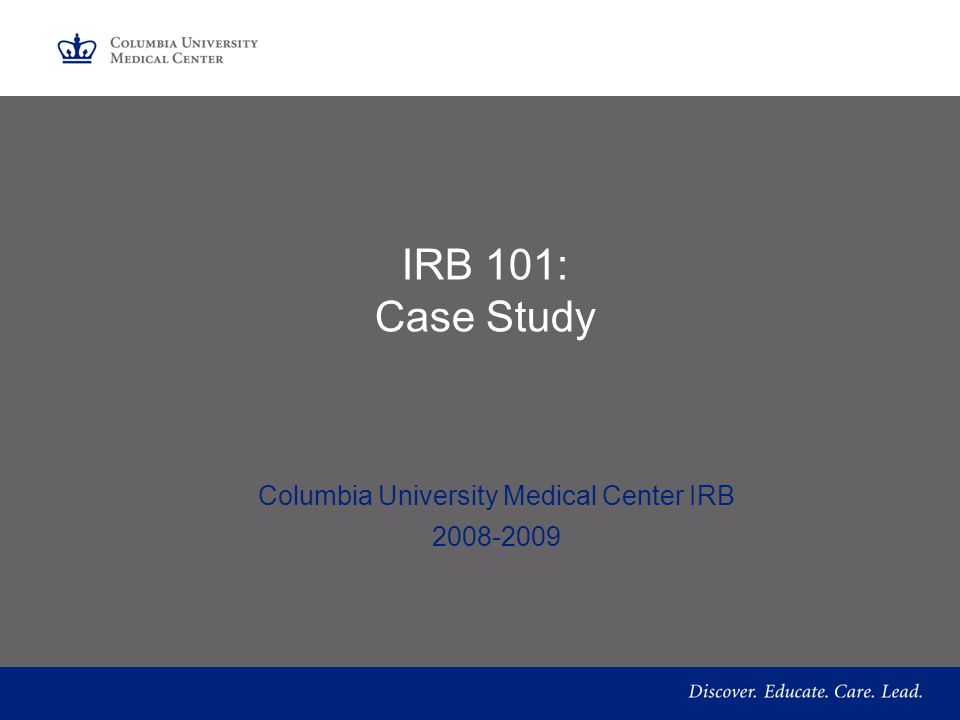 Columbia University Medical Center IRB