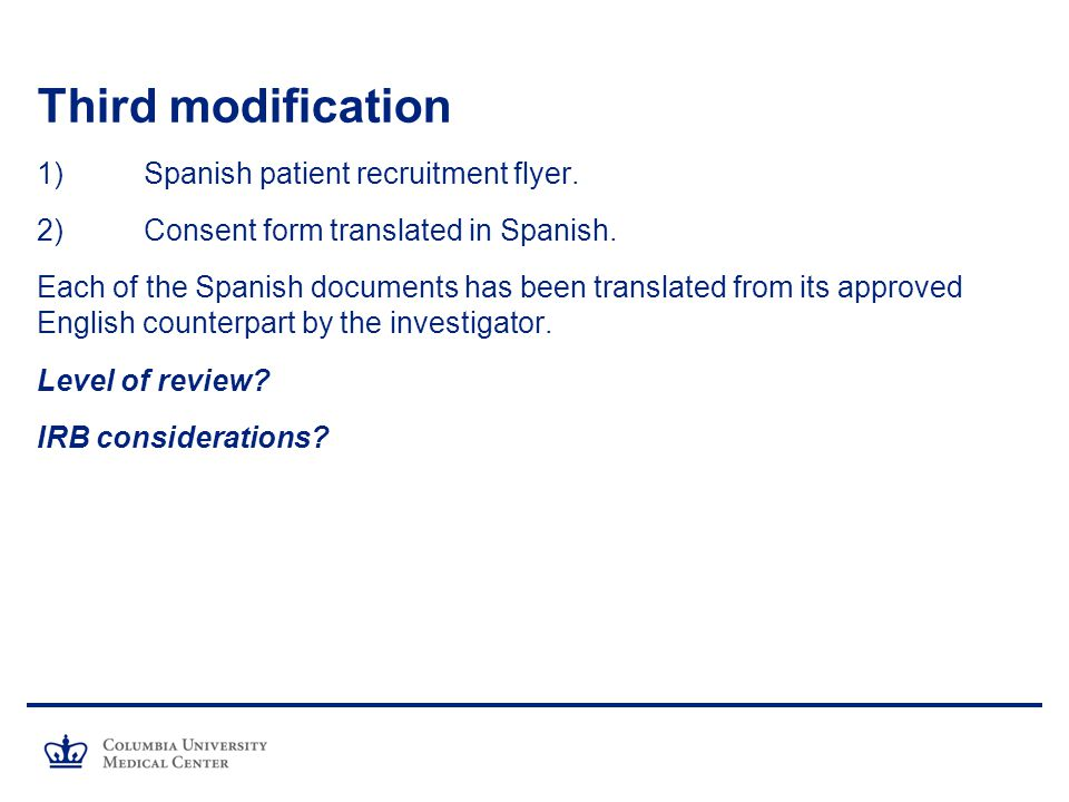 Third modification 1) Spanish patient recruitment flyer.