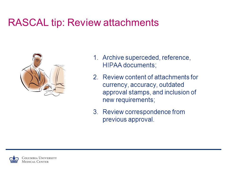 RASCAL tip: Review attachments