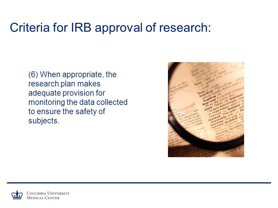 Criteria for IRB approval of research: