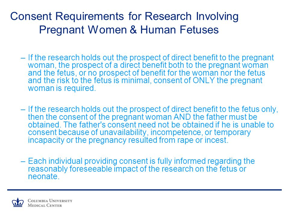 Consent Requirements for Research Involving