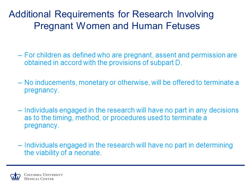 Additional Requirements for Research Involving