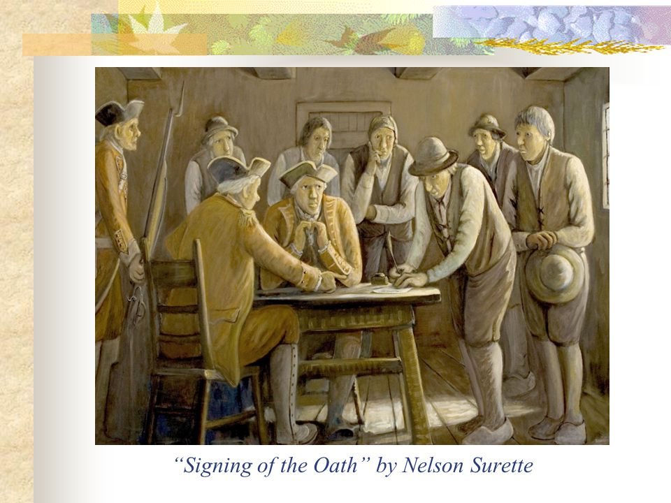 Signing of the Oath by Nelson Surette
