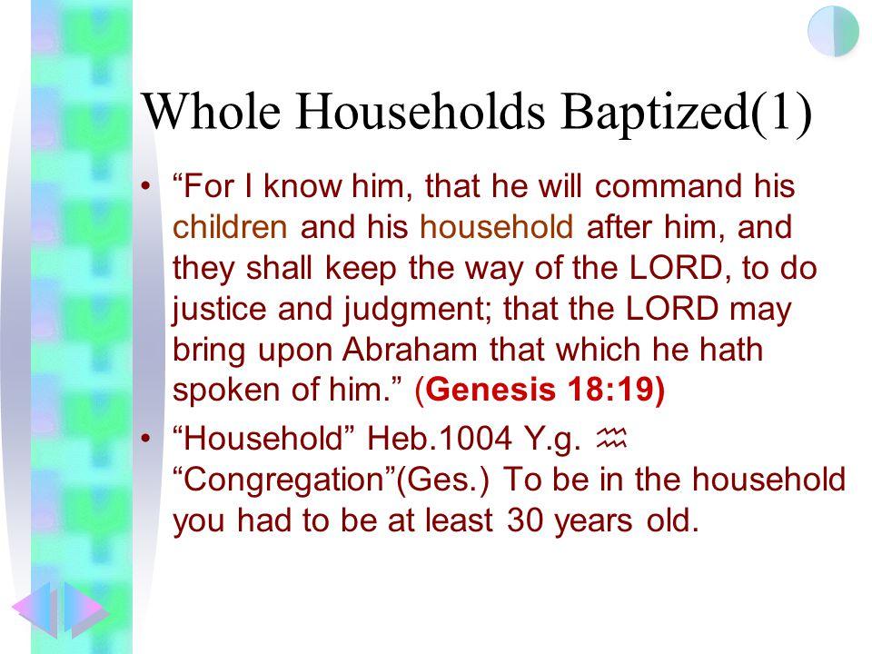 Whole Households Baptized(1)