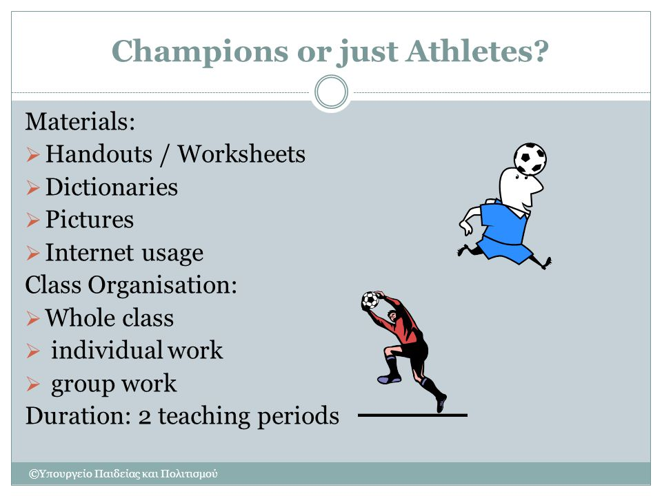 Champions or just Athletes