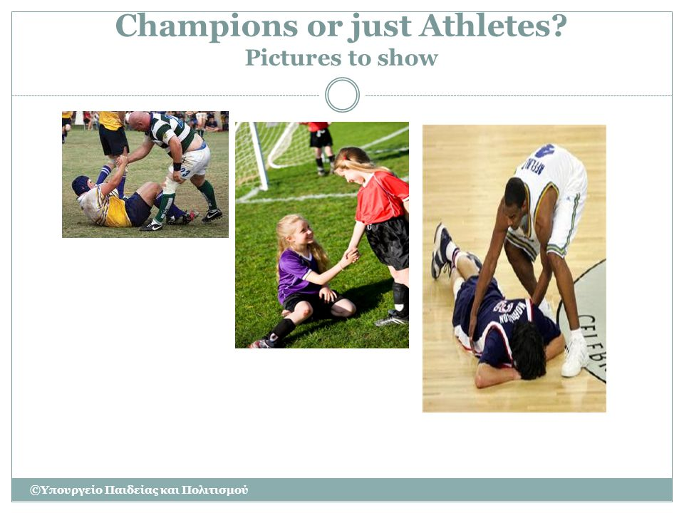 Champions or just Athletes Pictures to show