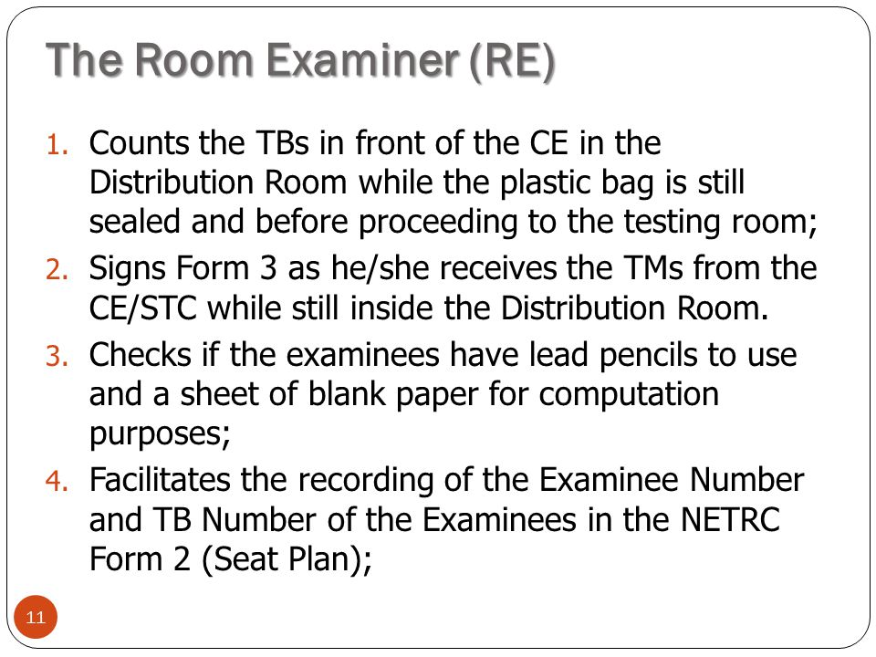 The Room Examiner (RE)