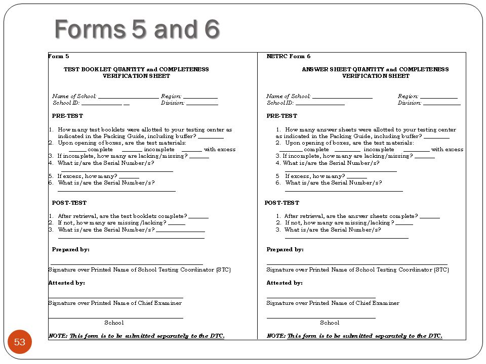 Forms 5 and 6