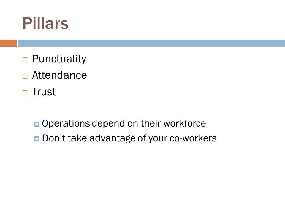 Pillars Punctuality Attendance Trust