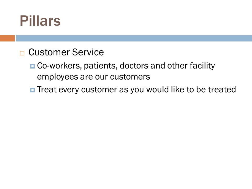 Pillars Customer Service