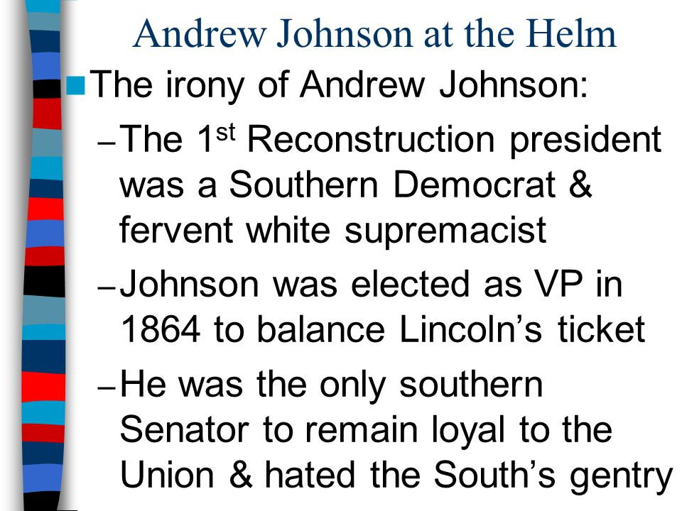 Andrew Johnson at the Helm
