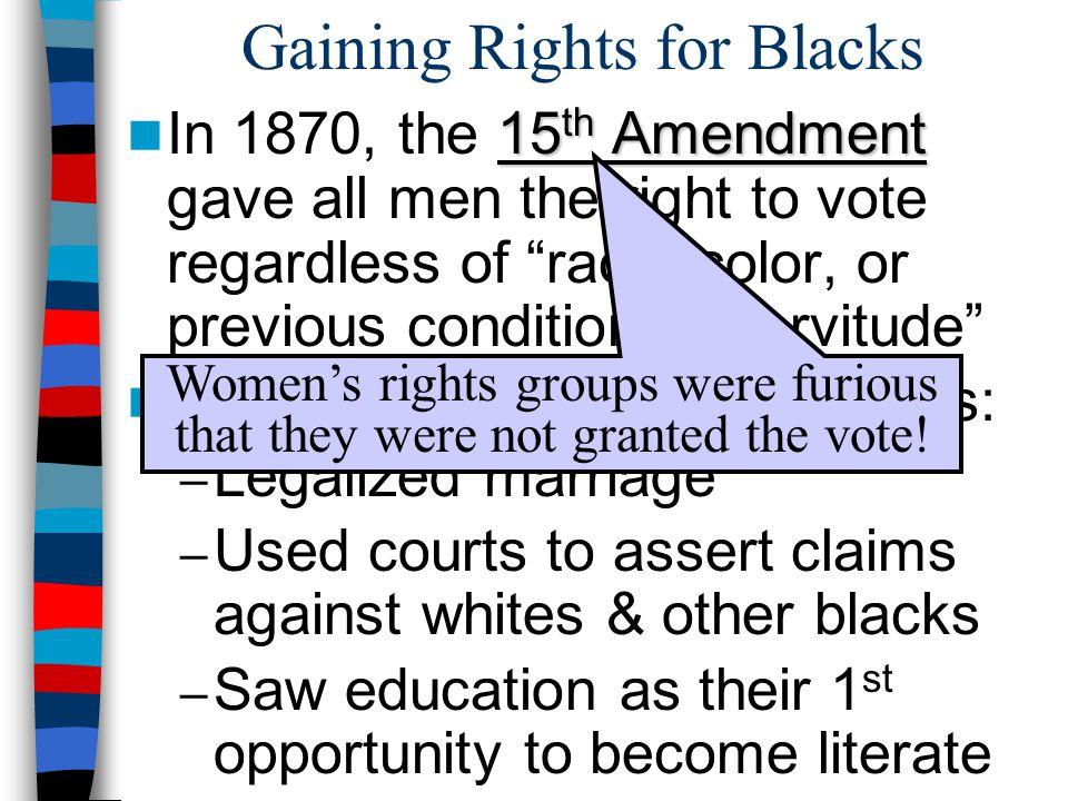 Gaining Rights for Blacks