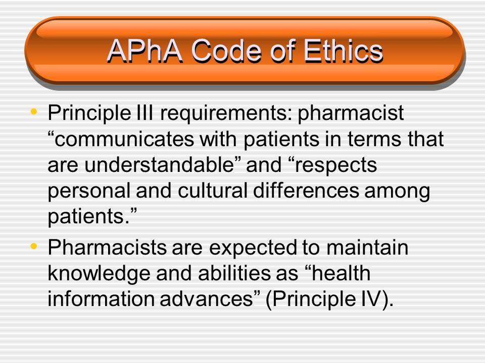 APhA Code of Ethics