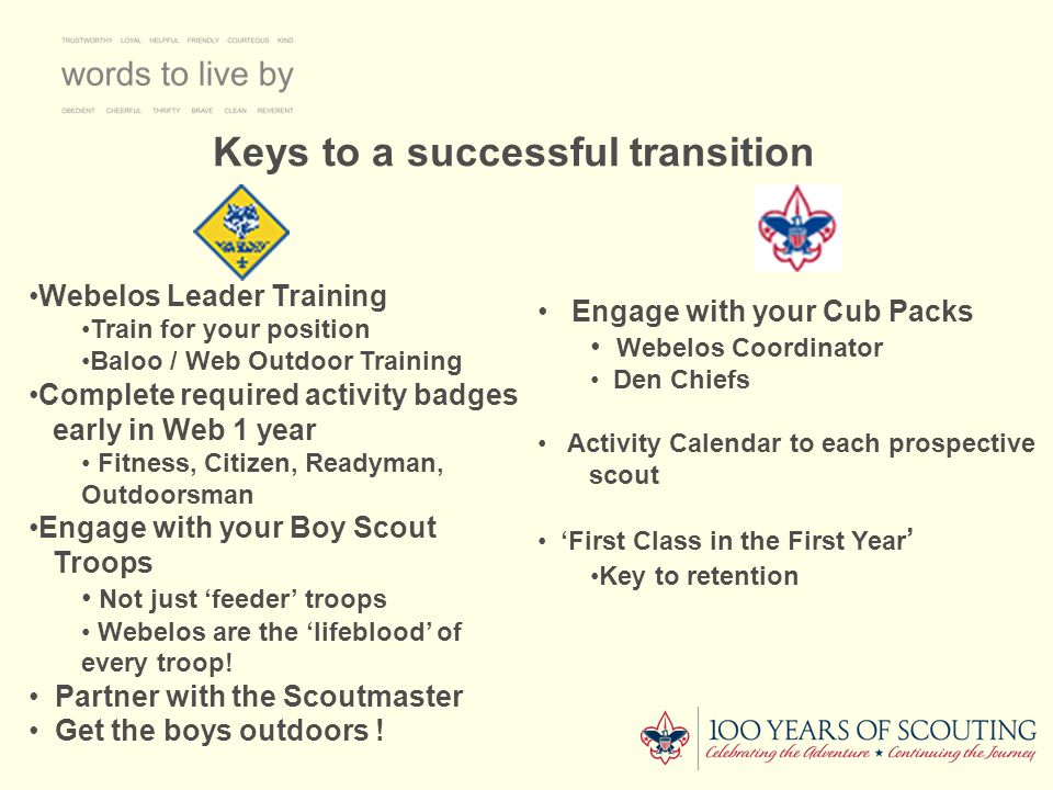 Keys to a successful transition