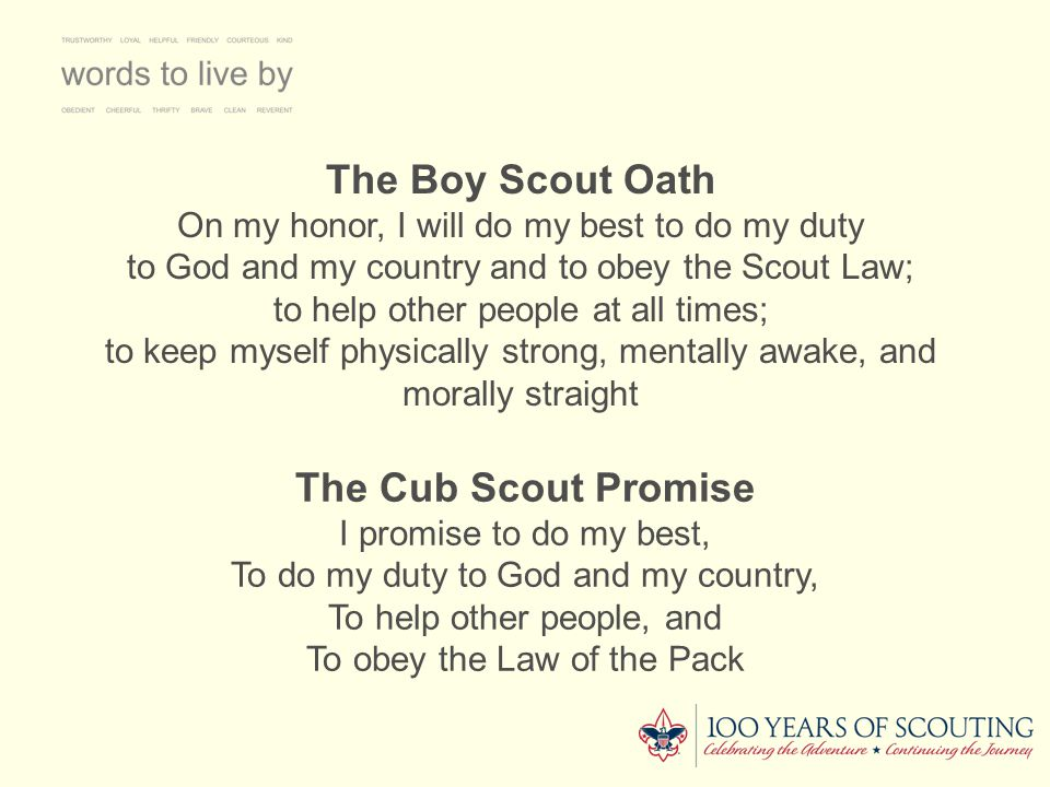 The Boy Scout Oath The Cub Scout Promise