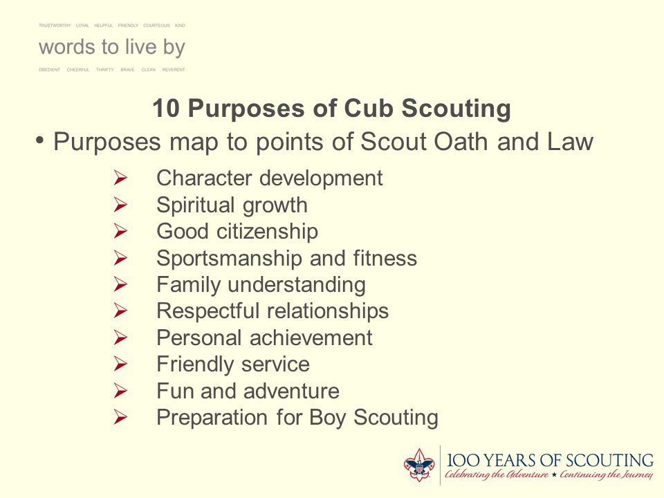 10 Purposes of Cub Scouting