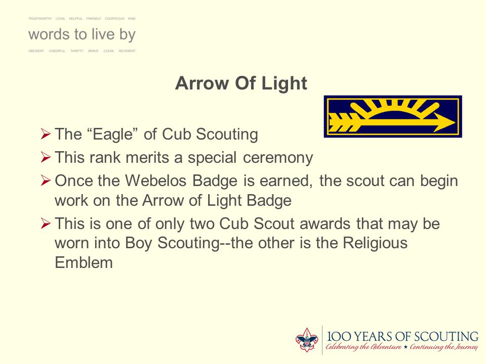 Arrow Of Light The Eagle of Cub Scouting