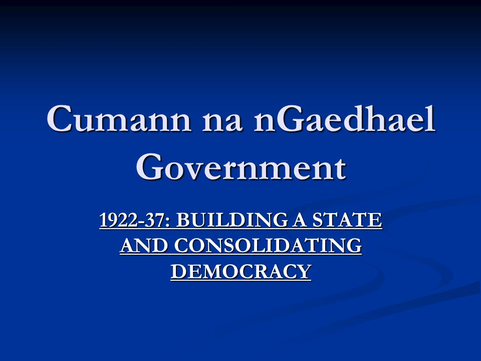 Cumann na nGaedhael Government