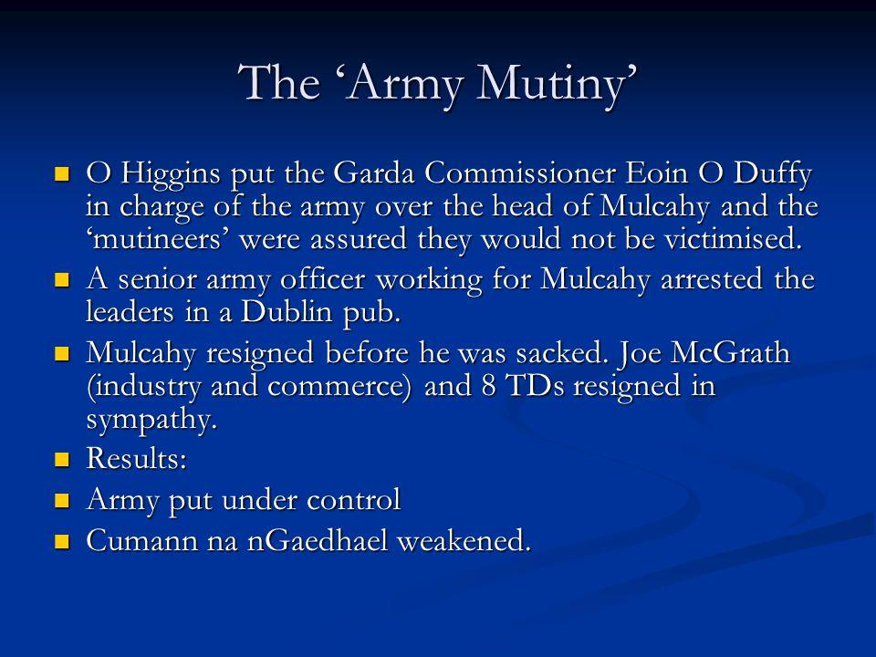 The 'Army Mutiny'