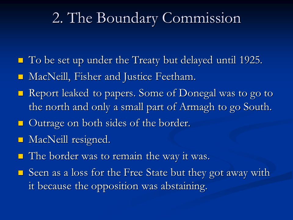 2. The Boundary Commission