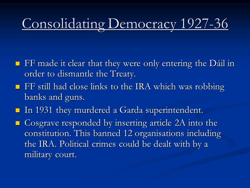 Consolidating Democracy 1927-36
