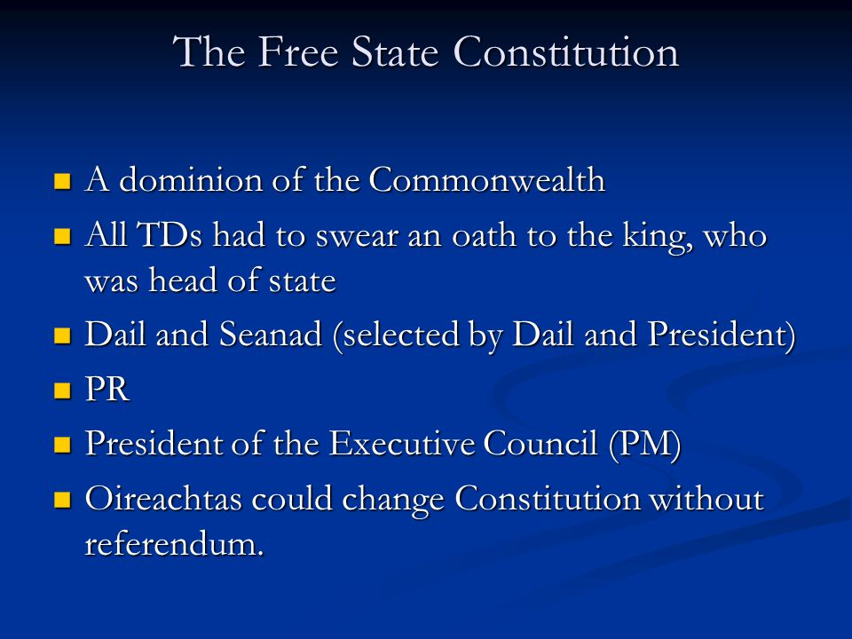 The Free State Constitution