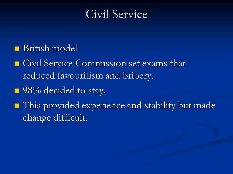 Civil Service British model