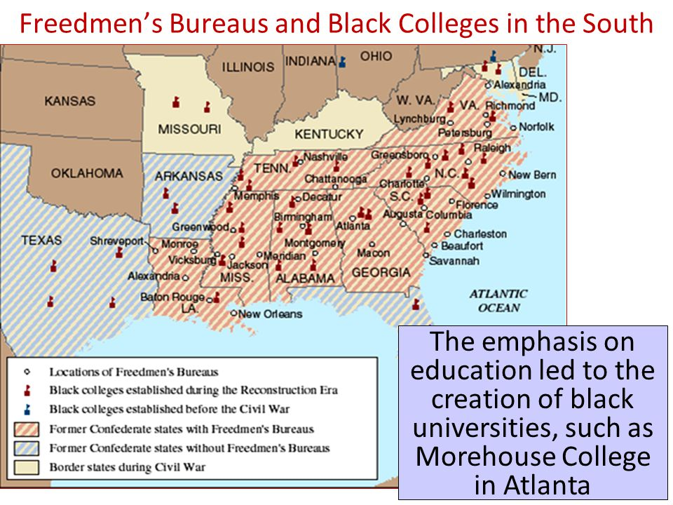 Freedmen's Bureaus and Black Colleges in the South