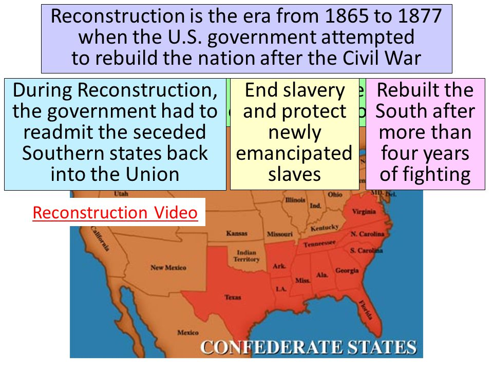 End slavery and protect newly emancipated slaves