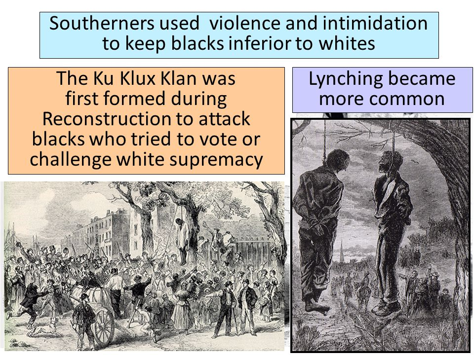 Lynching became more common