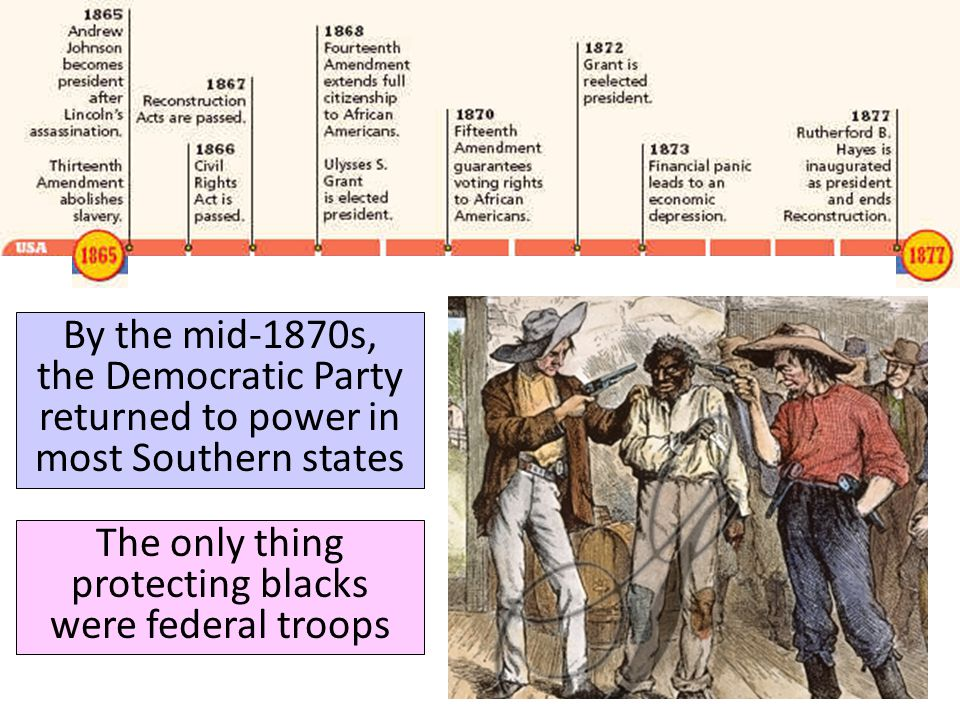 The only thing protecting blacks were federal troops
