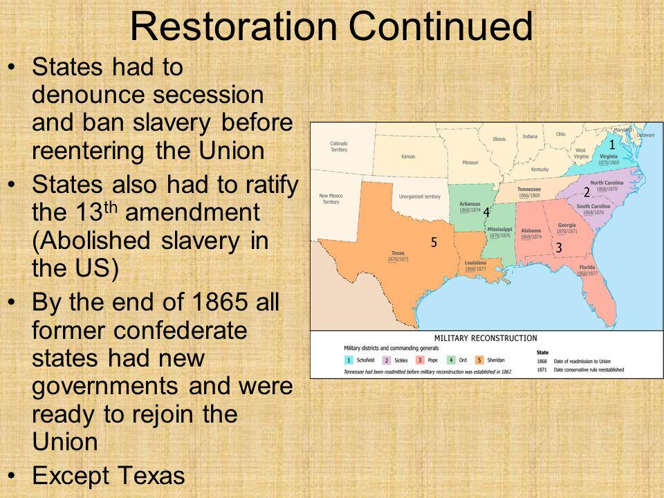 Restoration Continued