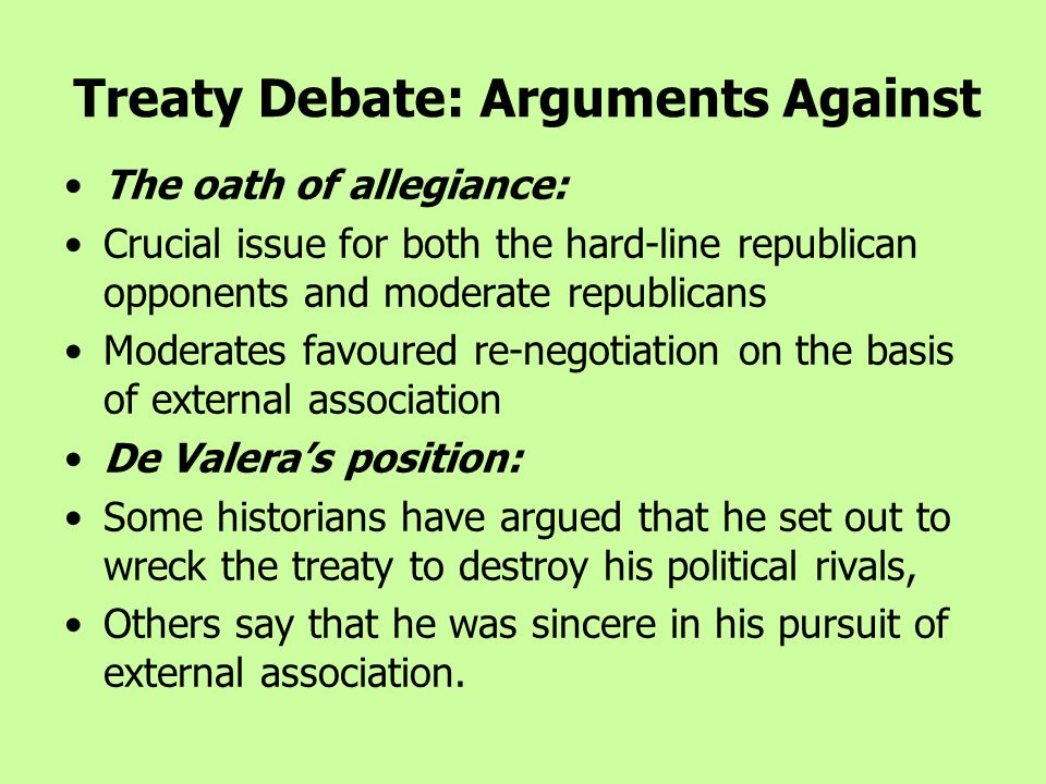 Treaty Debate: Arguments Against