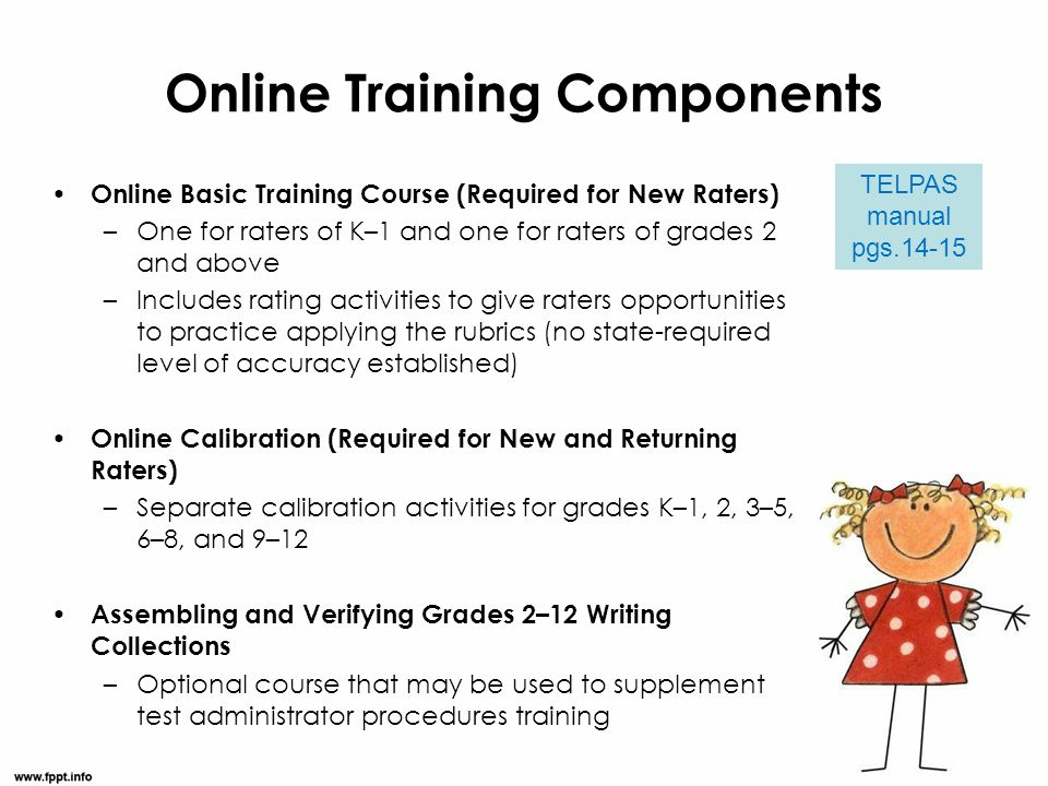 Online Training Components