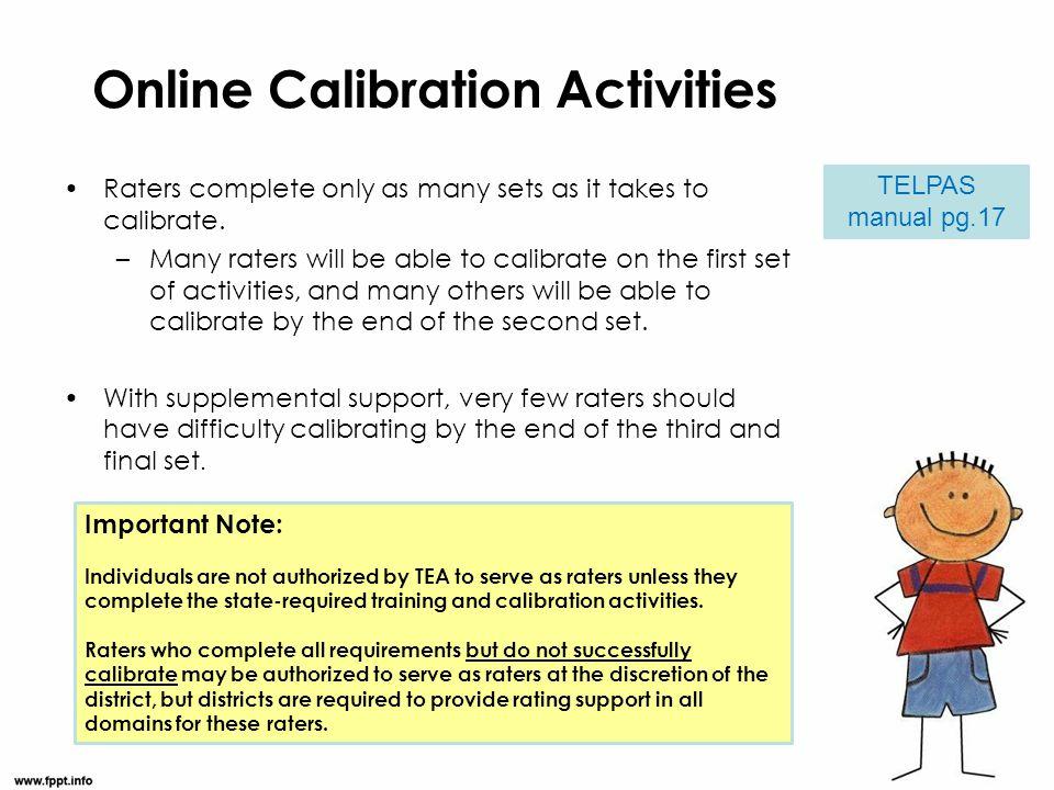 Online Calibration Activities