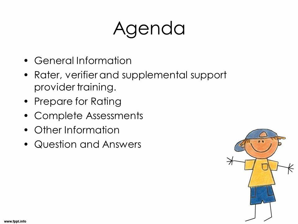 Agenda General Information