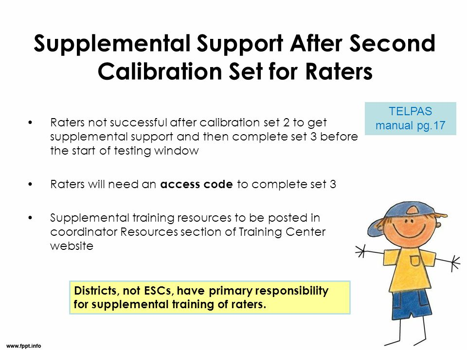Supplemental Support After Second Calibration Set for Raters
