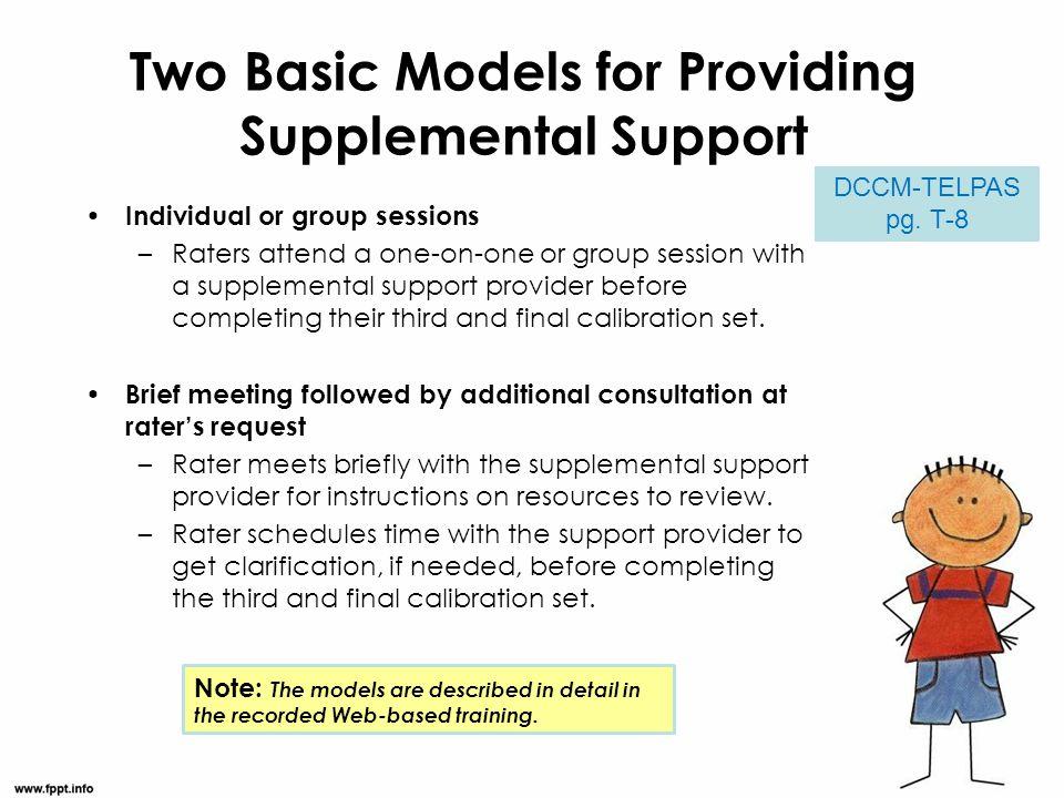 Two Basic Models for Providing Supplemental Support