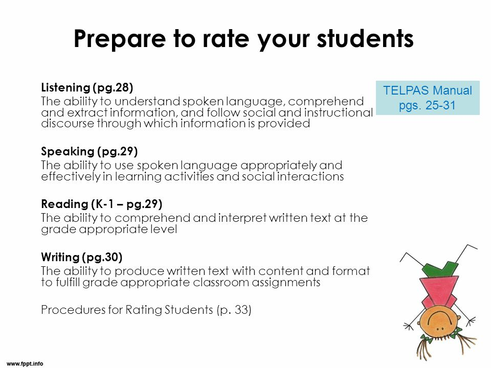 Prepare to rate your students