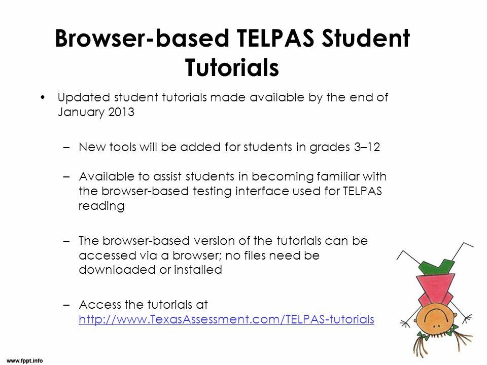 Browser-based TELPAS Student Tutorials