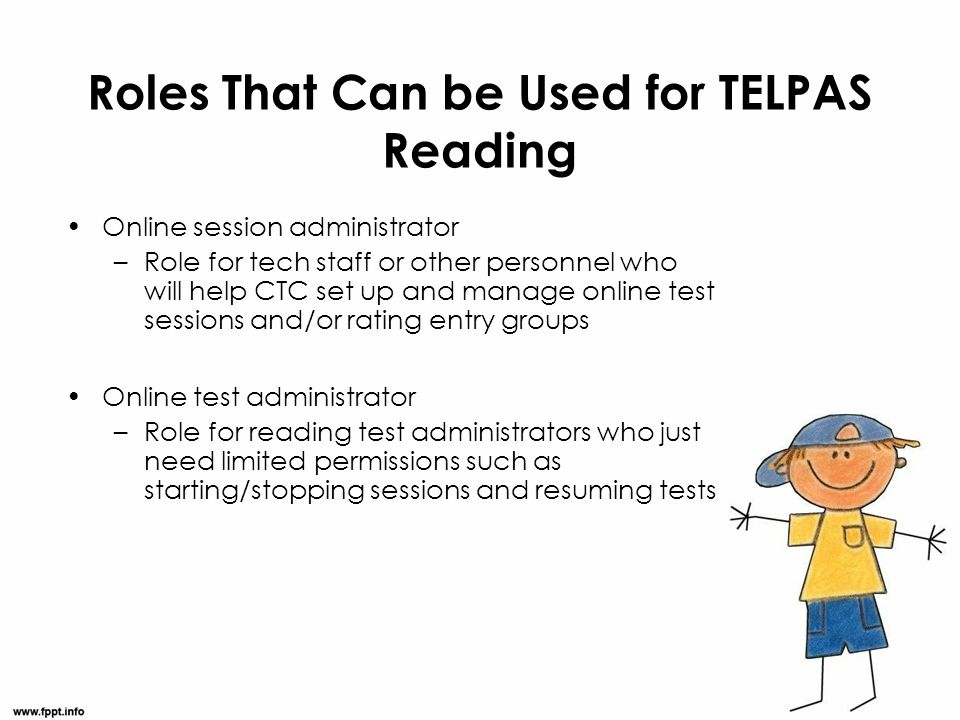 Roles That Can be Used for TELPAS Reading