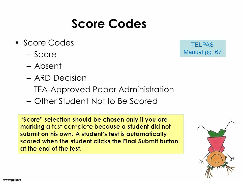 Score Codes Score Codes Score Absent ARD Decision