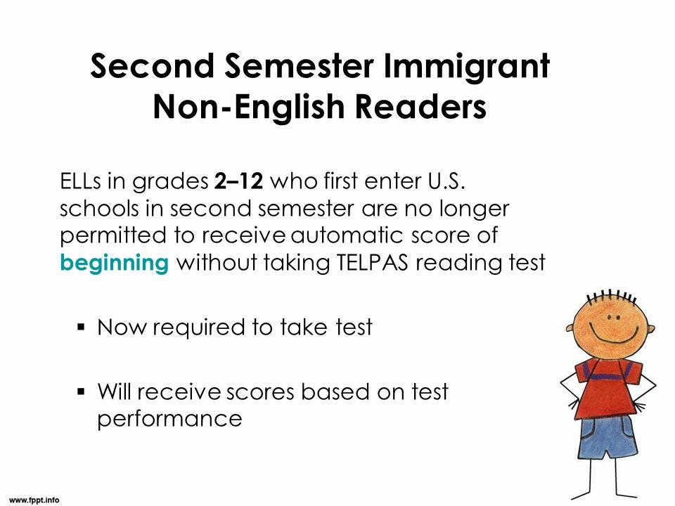 Second Semester Immigrant Non-English Readers