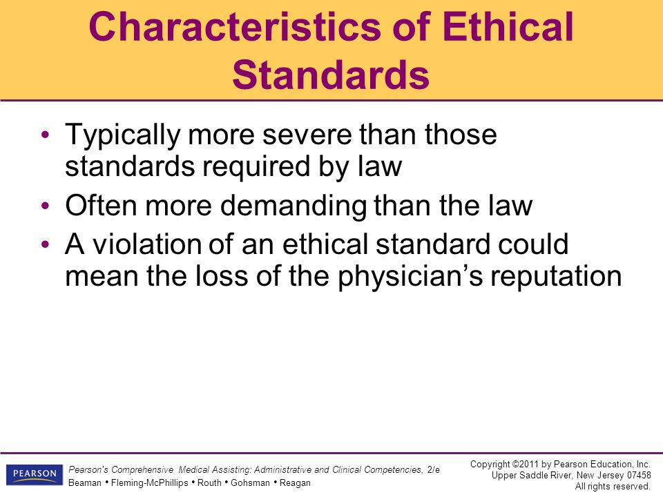 Characteristics of Ethical Standards
