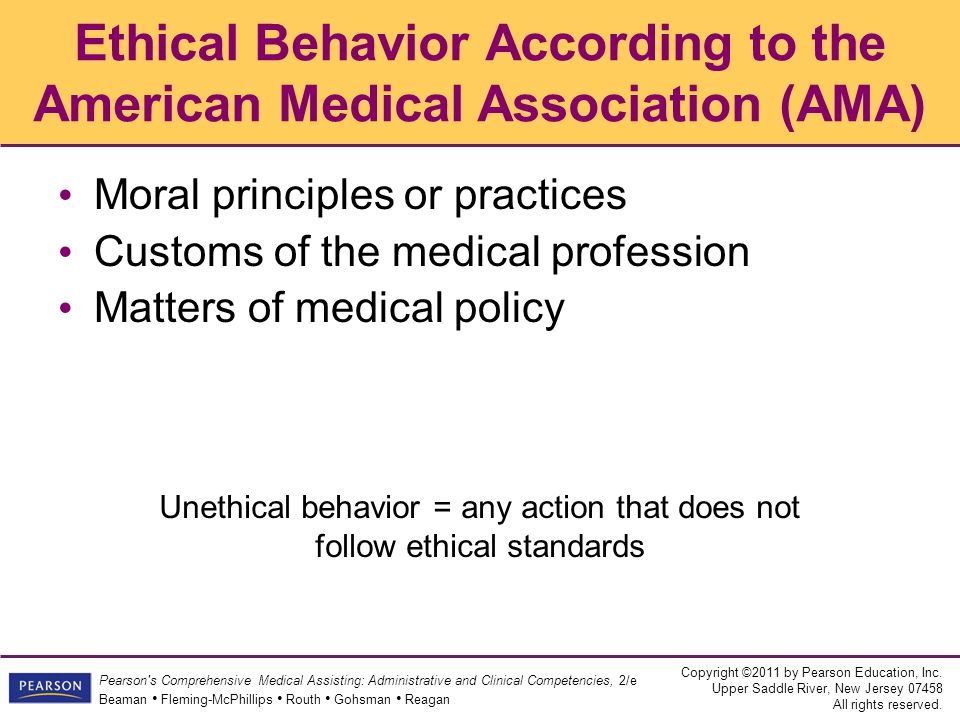Ethical Behavior According to the American Medical Association (AMA)