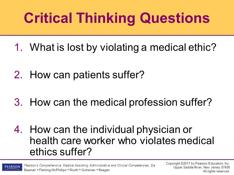 What Is the Connection between Critical Thinking and Ethics?