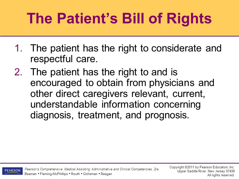 The Patient's Bill of Rights