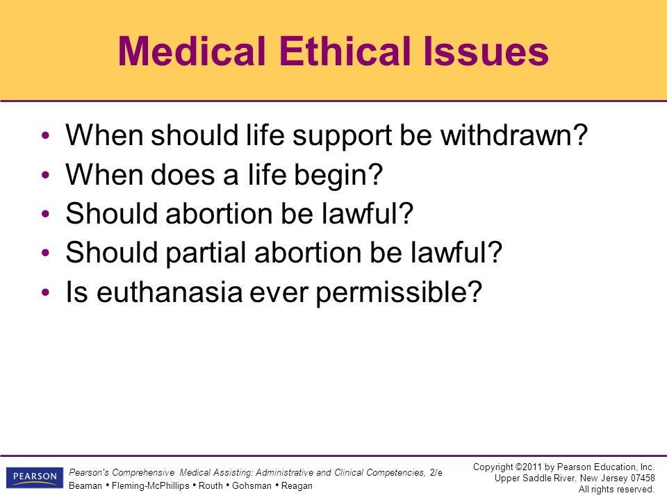 Ethical problems of euthanasia
